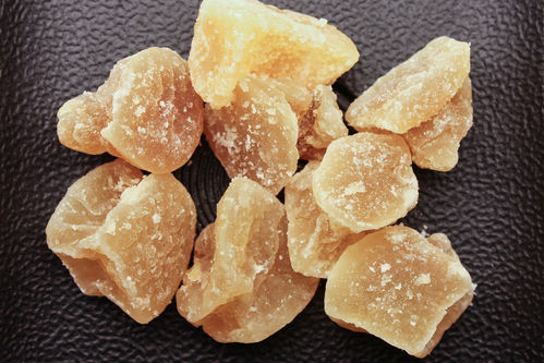 China Stücke scharf groß dried ginger chunks, sweetened with icing powder sugar